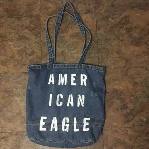 America Eagle Outfitters denim tote bag